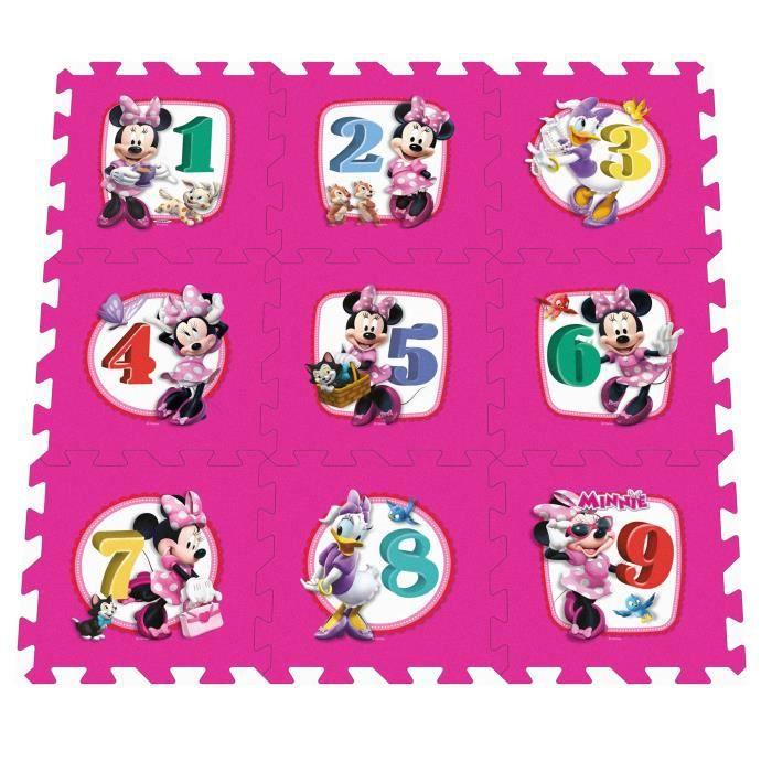 MINNIE Tapis Bébé Puzzle Mousse Marelle 9pcs Avec Sacoche