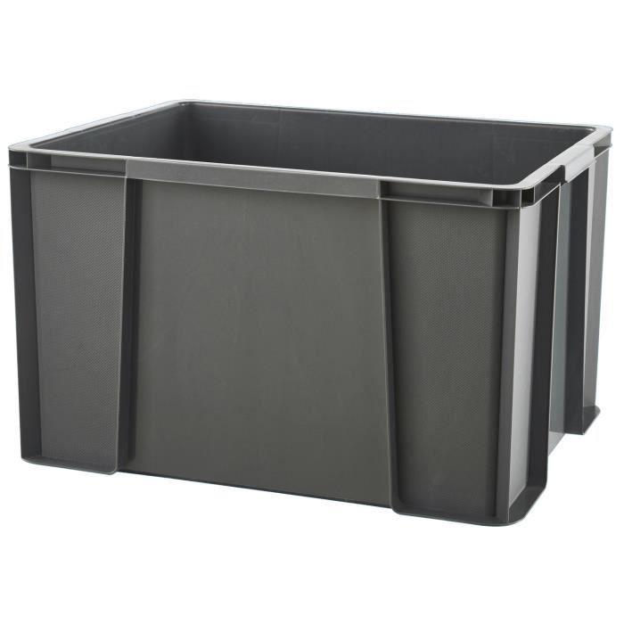 SUNDIS Bac boîte de rangement Masterbox 45L 50x38,5x30,5 cm anthracite
