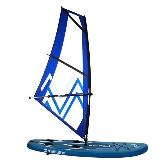 ROHE Pack Paddle Gonflable Windsurf avec Kit Planche à Voile