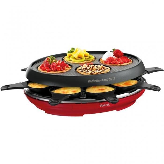 Tefal Raclette - Fondue Raclette Colormania rouge RE310512