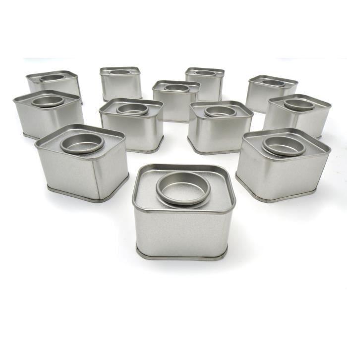 D.I.Y with Toga Lot de 12 boîtes - métal - rectangle