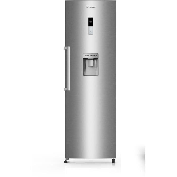 TRIOMPH TKL360NFWS - Réfrigérateur 1 Porte - 358L - No Frost - A+ - L 59.5 x H 185 cm - Inox Look