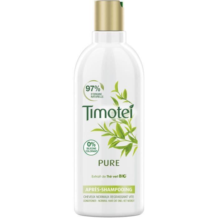 TIMOTEI Après-Shampooing Femme Enrichie à l'extrait de Thé Vert Bio Cheveux Normaux - 300 ml