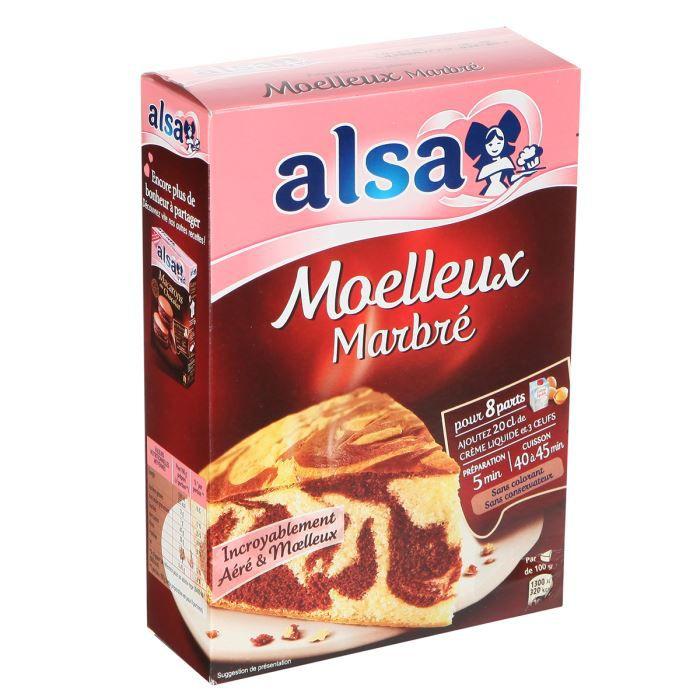 ALSA Préparation Moelleux Marbré 435g