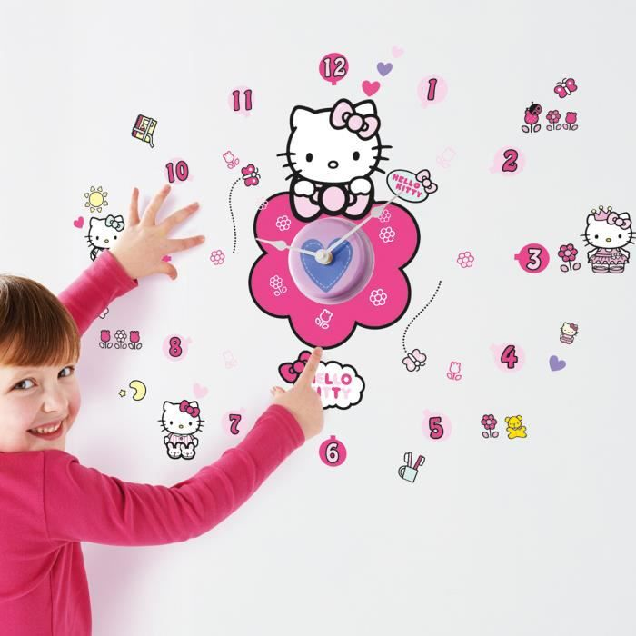 Stickers Horloge Hello Kitty Sanrio Phosphorescent