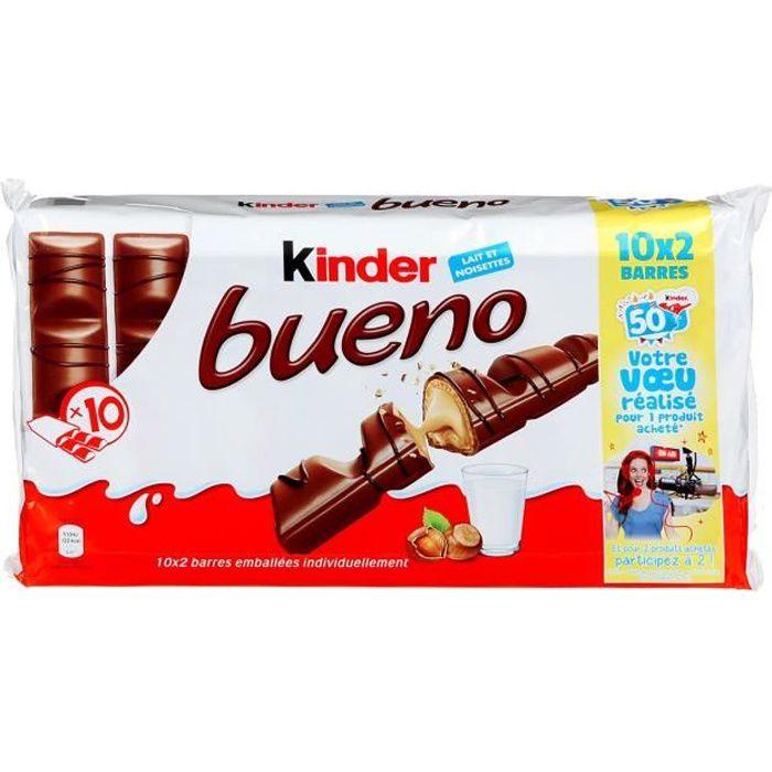 KINDER Bueno Lot de 2 Fines gaufrettes enrobées de chocolat