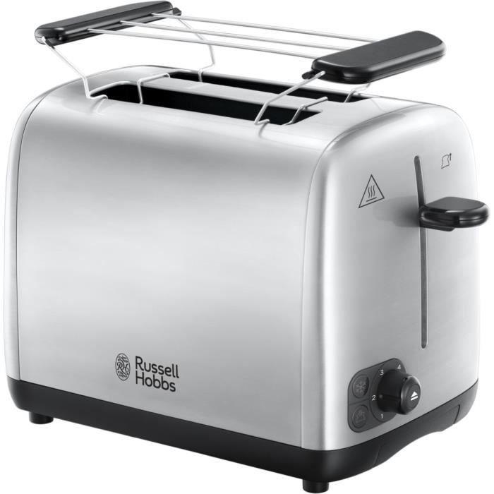 RUSSELL HOBBS 24080-56 Toaster Grille Pain Adventure, Cuisson Uniforme, Contrôle Brunissage, Chauffe Viennoiserie - Acier Brossé