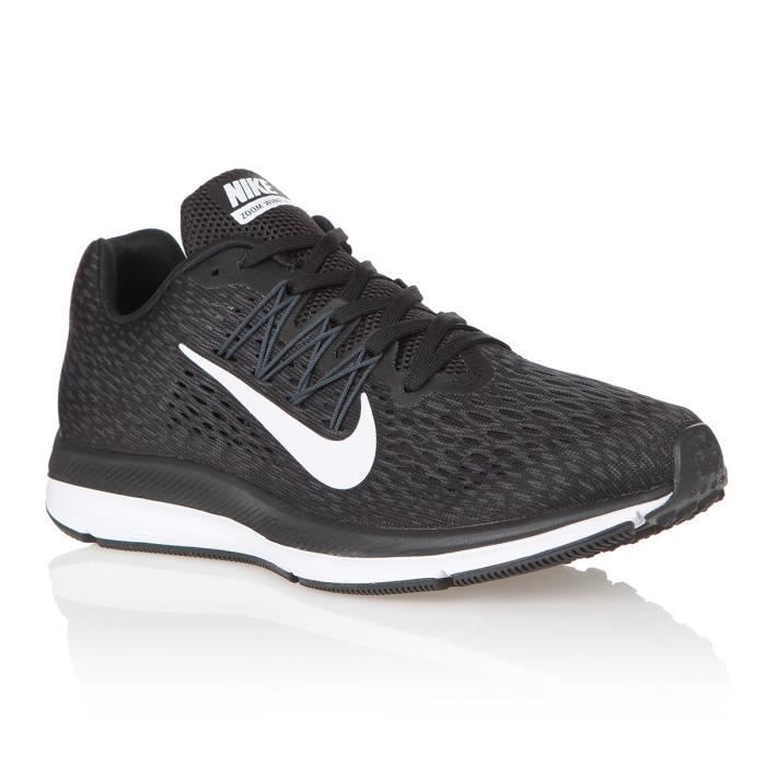 NIKE Baskets Air Zoom Winflo 5 Homme Noir et blanc anthracite