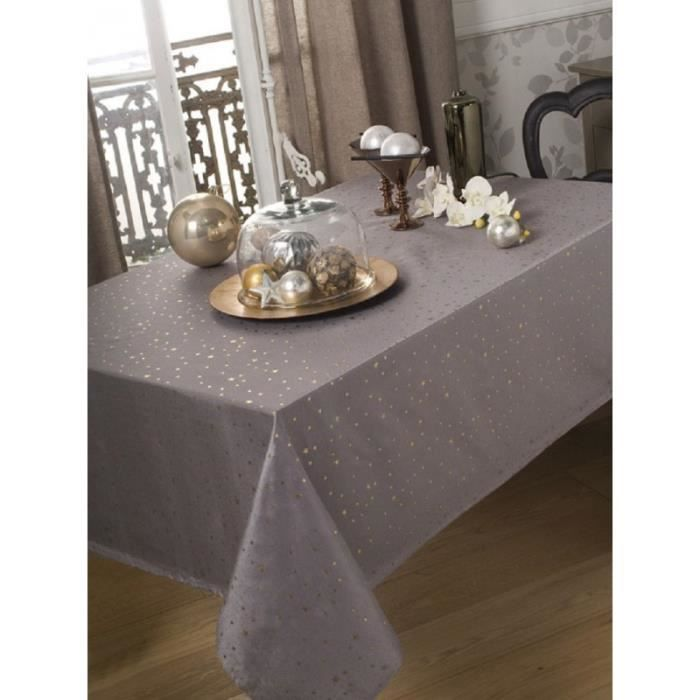 nappe en tissu carr e 150x150 cm star evita argent achat vente nappe de table cdiscount. Black Bedroom Furniture Sets. Home Design Ideas