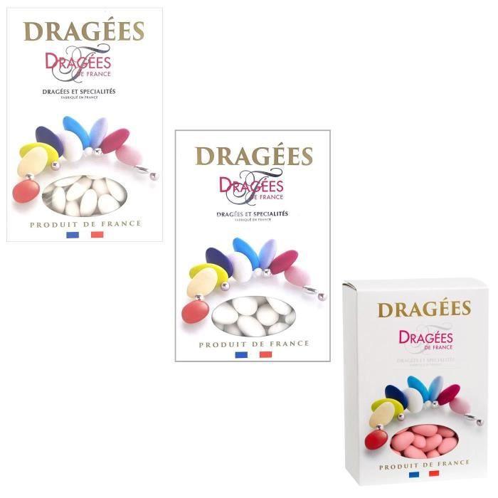DRAGÉES DRAGEES DE FRANCE Sélection dragées amande blanc,