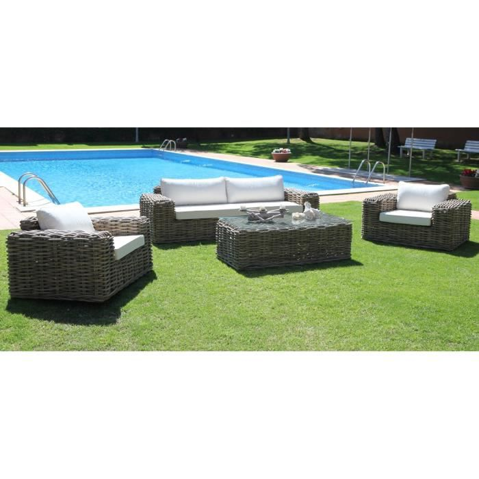 salon de jardin 1 sofa 1 table basse 2 fauteuils rotin. Black Bedroom Furniture Sets. Home Design Ideas