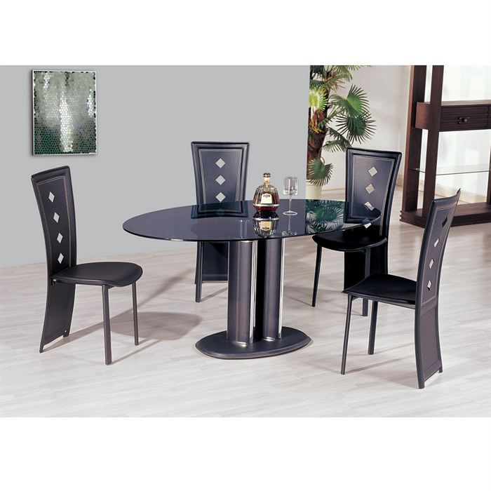table salle a manger ronde en verre valdiz. Black Bedroom Furniture Sets. Home Design Ideas