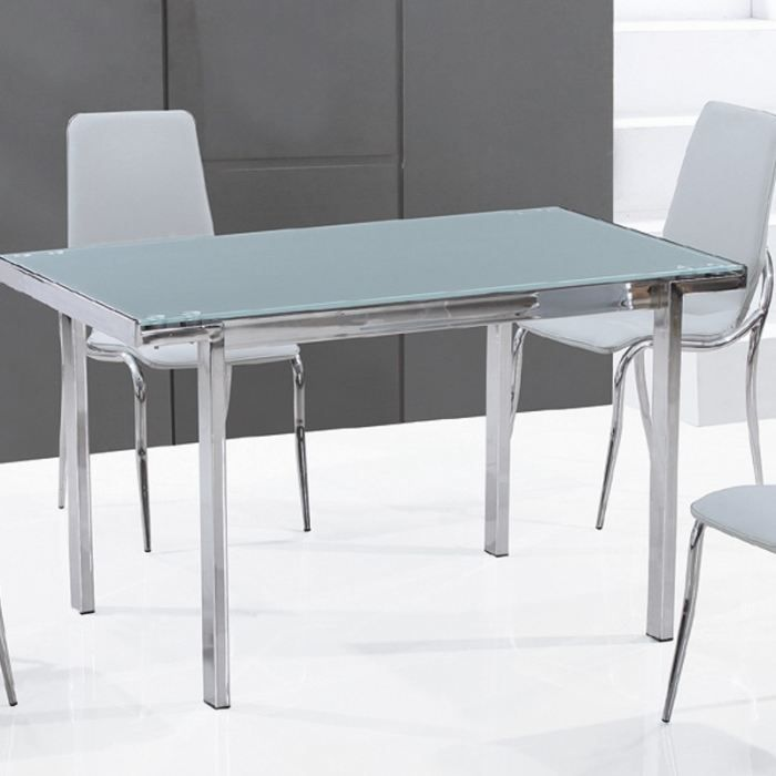 Table en verre rectangle fosco achat vente table for Table de cuisine en verre
