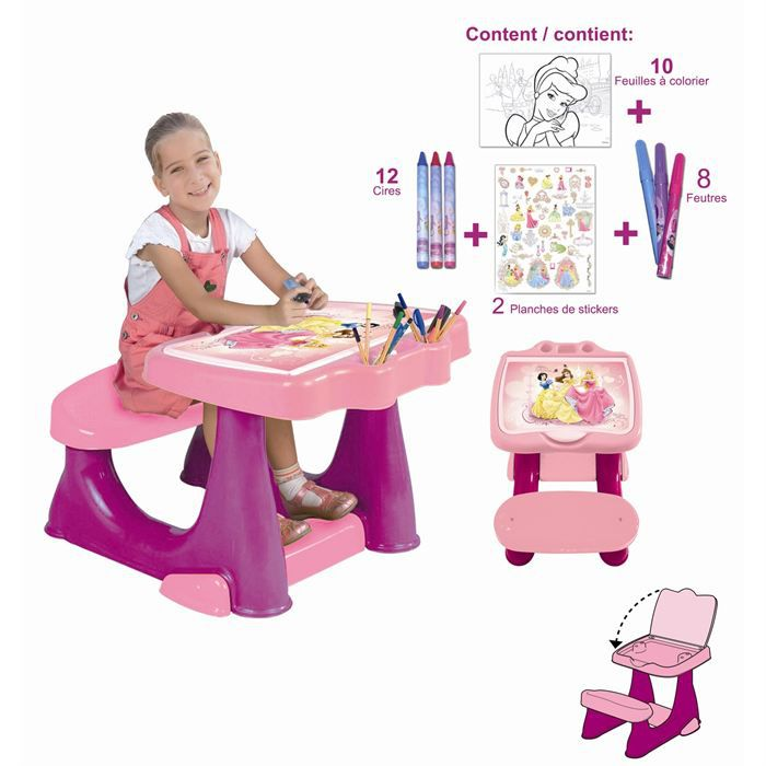 bureau enfant set de coloriage disney princess achat vente table jouet d 39 activit cdiscount. Black Bedroom Furniture Sets. Home Design Ideas