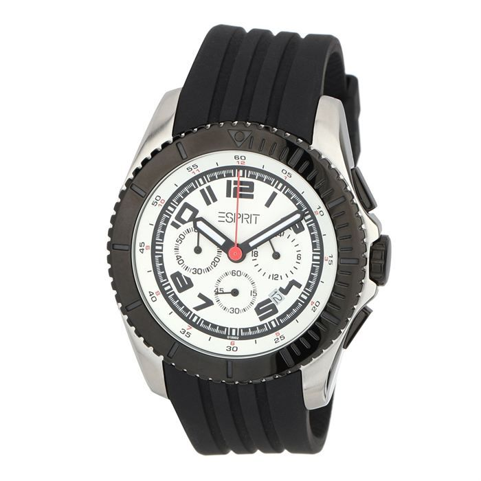 esprit montre chronographe homme noir blanc achat. Black Bedroom Furniture Sets. Home Design Ideas