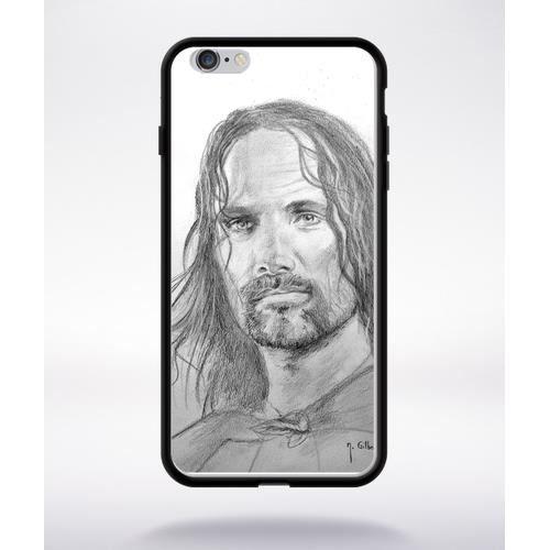 coque seigneur des anneaux 1 compatible apple iphone 6 plus bord noir silicone