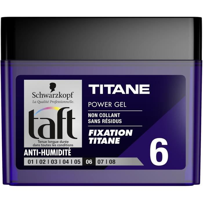taft power gel cube titane 250ml achat vente cire