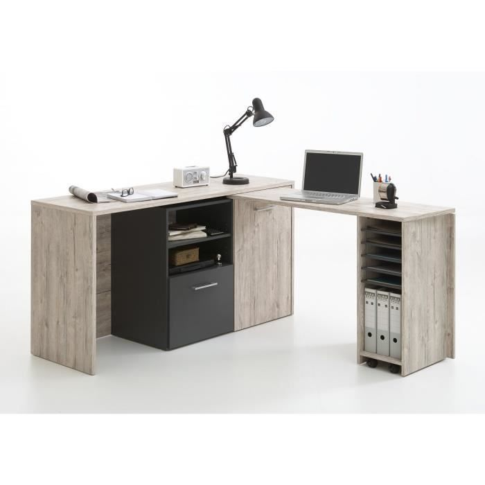 Meuble d angle bureau hoze home for Meuble bureau contemporain