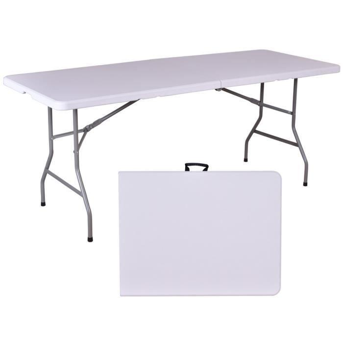 Table de jardin pliante en résine - 180 cm