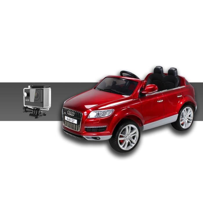 mini voiture lectrique pour enfants audi q7 90 watt rouge cam ra sport achat vente. Black Bedroom Furniture Sets. Home Design Ideas
