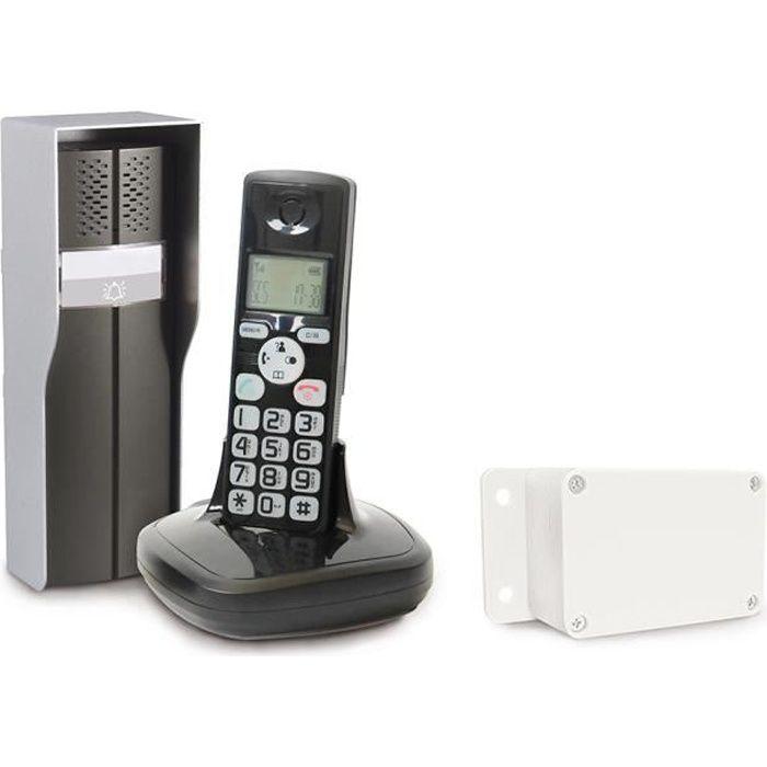 Interphone audio sans fil 2000 m/ètres de port/ée blanc