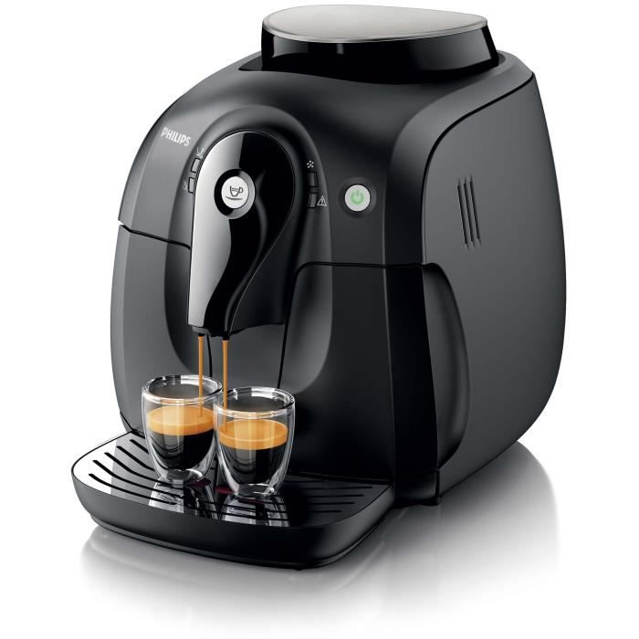 Machine espresso super automatique philips hd8650 01 s rie 2000 noire ach - Machine expresso broyeur ...