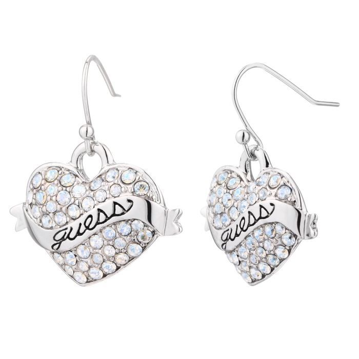 guess boucles d 39 oreilles femme blanc achat vente. Black Bedroom Furniture Sets. Home Design Ideas