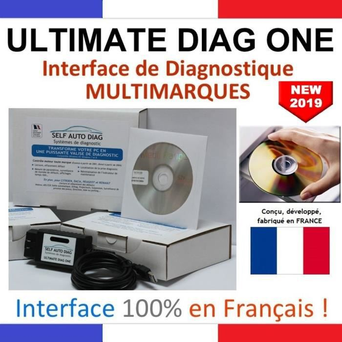 OUTIL DE DIAGNOSTIC Valise diagnostic auto ULTIMATE DIAG ONE - Interfa