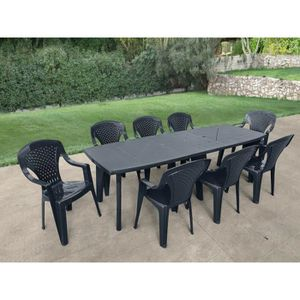 Table de jardin extensible 8 place(s) - Achat / Vente Table ...