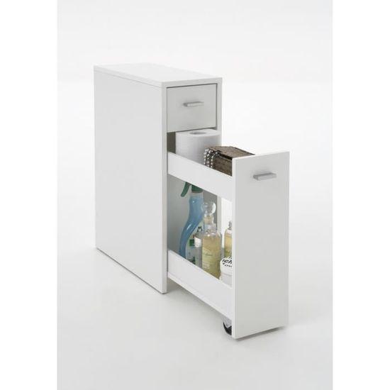 Denia Meuble De Salle De Bain L 20 Cm Blanc Achat Vente