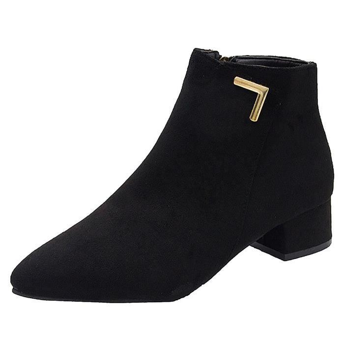 Bottes de bottes à la mode pour femmes avec loisirs à bout pointu et bout pointu QCL90717129BK38_YOU