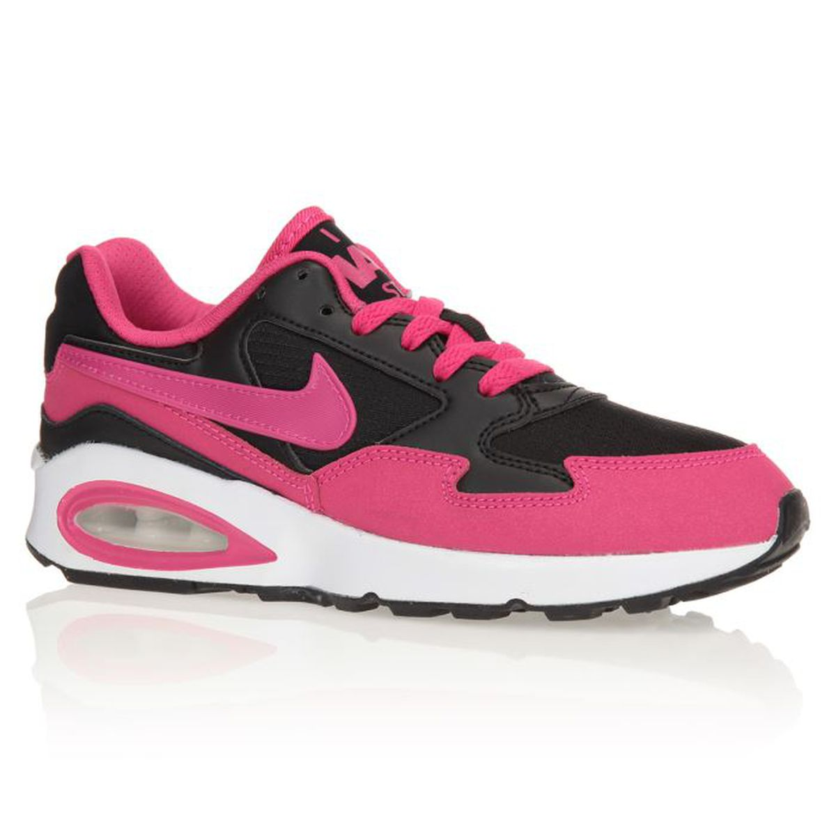 nike baskets air max st chaussures enfant fille rose et noir achat vente basket cdiscount. Black Bedroom Furniture Sets. Home Design Ideas
