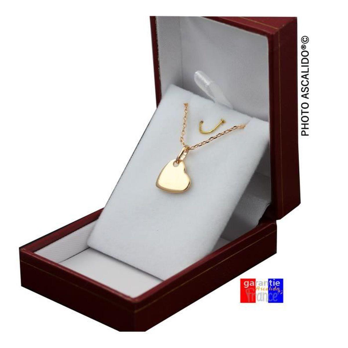 Blanc Coeur plaqué or Lettre collier pendentif H Meilleur ami Personnalisé