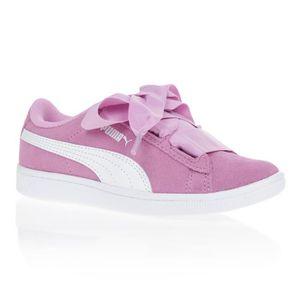 basket puma fille rose