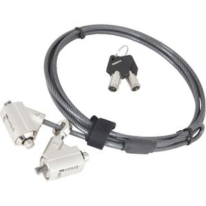 URBAN FACTORY Cable de protection antivol - 2m - Noir
