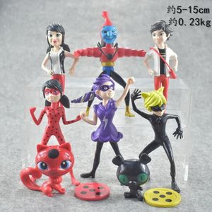 FIGURINE - PERSONNAGE 8 Pcs Figurine Personnage Miraculous Ladybug Jouet
