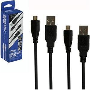CHARGEUR CONSOLE Pack de 2 Câbles de Chargement Recharge USB 3 mètr