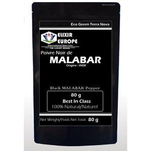POIVRE Poivre noir de Malabar 80 g