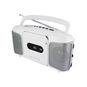 RADIO CD CASSETTE LECTEUR RADIO CD PORTABLE BLANC TYPE TRANSISTOR