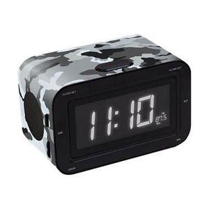 Radio réveil BIGBEN RR30ARMY Radio réveil - Double alarme - Gri