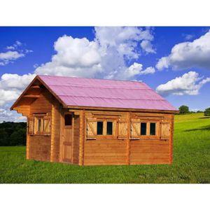 ABRI JARDIN - CHALET Abri de jardin 35,34m² en bois massif - Double rai