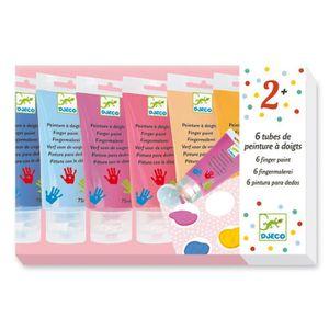 PALETTE PEINTURE Set de 6 tubes de peinture à doigts : Sweet aille