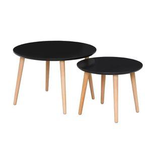 TABLE GIGOGNE FINLANDEK 2 tables basses gigognes rondes INKERI s