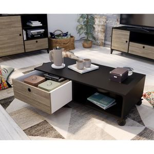TABLE BASSE FINLANDEK Table basse JONES - Industriel - Noir ma