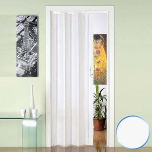 CABINE DE DOUCHE Porte pliante accordèon en pvc blanc 88,5x214cm mo