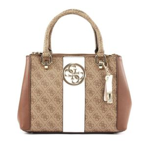 GUESS Bluebelle Status Satchel Brown