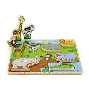 PUZZLE Hape - E1451 - Puzzle En Bois - Vertical - Les Ani