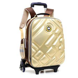 CARTABLE Cartable à Roulettes Six roues Trolley Bag impermé