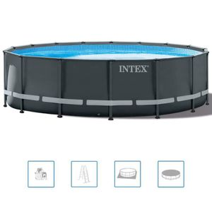 PATAUGEOIRE Intex Ensemble de piscine ronde Ultra XTR Frame 48