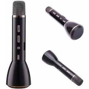 MICROPHONE - ACCESSOIRE micro sans fil avec bluetooth et haut parleur noir